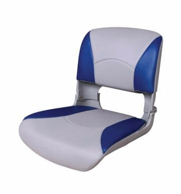 ALL WEATHER DELUXE FOLDING MARINE BOAT SEAT BLUE AND WHITE 75113WB fishing-yacht